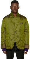 Haider Ackermann Green Nylon Insulted Mac Jacket