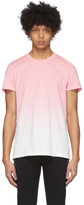 Balmain Pink and White Gradient T-Shirt