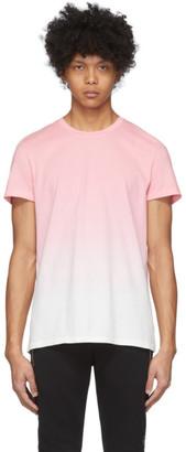 Balmain Pink and White Gradient T-Shirt
