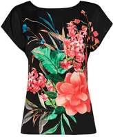 Wallis Floral Print Woven Front Top