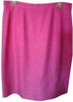 Saint Laurent Pink Linen Skirt