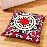 Black/Pink Suzani Floor Cushion