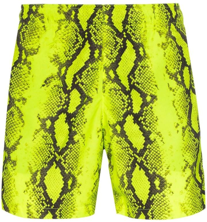 Off-White Snake Print Swim Shorts