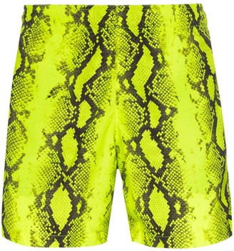 Off-White Snake Print Swim Shorts