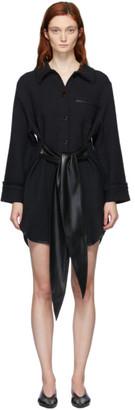 Nanushka Black Conny Belted Dress