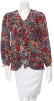 Thakoon Printed Silk Button-Up