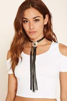 Forever 21 FOREVER 21+ Ettika Leather Tassel Necklace