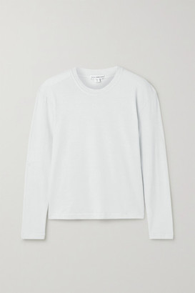 James Perse Cotton-jersey Top - Light gray