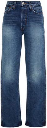 RE/DONE Faded High-rise Straight-leg Jeans