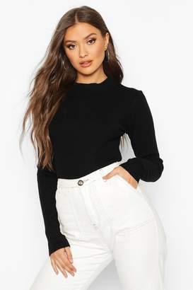 boohoo Turtle Neck Knitted Crop Top