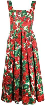 Dolce & Gabbana Crepe Floral-Print Dress