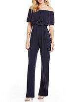 Vince Camuto Off-The-Shoulder Wide Leg Solid Jumpsuit
