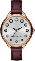 Marc Jacobs Women's Betty Oxblood Leather Strap Watch 36mm MJ1478