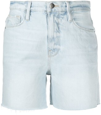 Frame Frayed Edge Denim Cut Off Shorts
