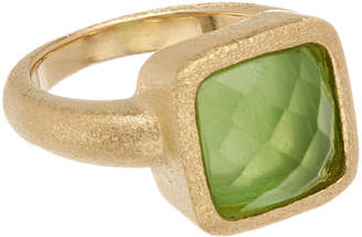 Rivka Friedman 18K Clad Mother-Of-Pearl Doublet Ring