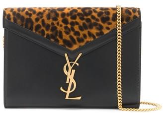 Saint Laurent leopard print Cassandra shoulder bag
