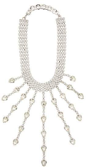 Alessandra Rich Crystal Hearts Choker - Womens - Crystal