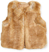 Chloé Sleeveless Faux-Fur Vest, Size 6-10