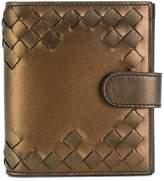 Bottega Veneta oro scuro nappa mini wallet
