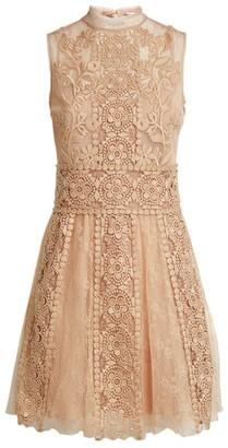RED Valentino Sleeveless Tulle Mini Dress