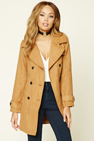 Forever 21 FOREVER 21+ Faux Suede Double-Breasted Coat