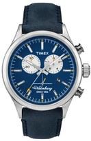 Timex 'Originals' Chronograph Leather Strap Watch, 42mm