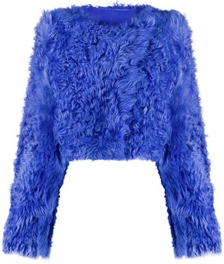 Off-White Cropped Fur Jacket