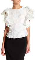 Ark & Co Embroidered Ruffle Sleeve Blouse