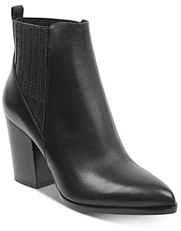 Marc Fisher Women's Alva Stacked Heel Booties