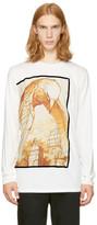 3.1 Phillip Lim White Long Sleeve Raven T-Shirt