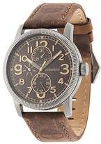 Timberland Men's Quartz Watch with Brown Dial Analogue Display and Brown Leather Strap 14812JSU/12