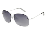 Calvin Klein White & Gray Gradient Sunglasses - Women