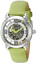 Stuhrling Original Women's 156.121D2 Legacy Automatic Self Wind Green Satin Twill Covered Watch