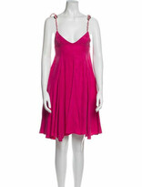 Thumbnail for your product : Paper London V-Neck Knee-Length Dress w/ Tags Pink V-Neck Knee-Length Dress w/ Tags