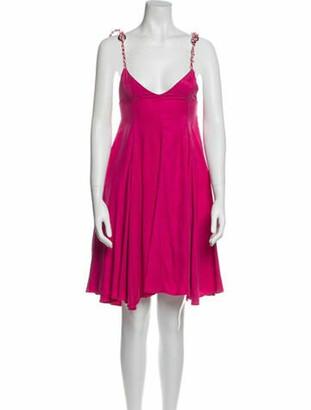 Paper London V-Neck Knee-Length Dress w/ Tags Pink V-Neck Knee-Length Dress w/ Tags