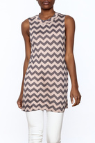 Private Label Zigzag Tunic Top