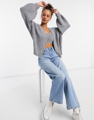 ASOS DESIGN two-piece chunky cardigan