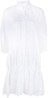 Ermanno Scervino Broderie Anglaise Shirt Dress