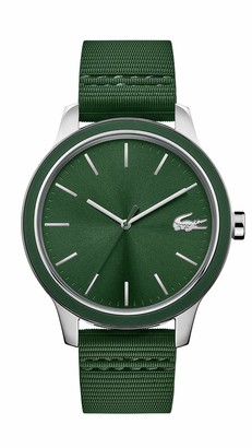 Lacoste Men's 12.12 Stainless Steel Quartz Watch with Silicone Strap