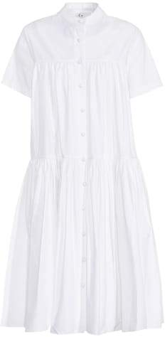 Co Tiered Puff cotton dress