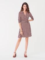 Diane von Furstenberg T/73 Silk-Jersey Mini Wrap Dress