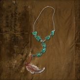Denim & Supply Ralph Lauren Turquoise Feather Necklace