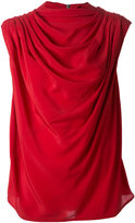Rick Owens draped short sleeve top