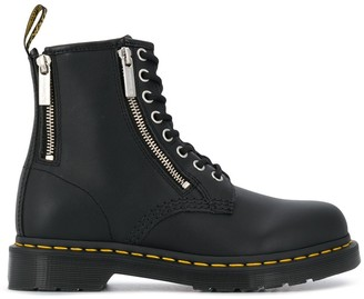 Dr. Martens Zip-Detail Ankle Boots