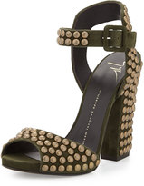 giuseppe zanotti spiked heels chains