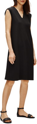 Eileen Fisher V-Neck Sleeveless A-Line Dress