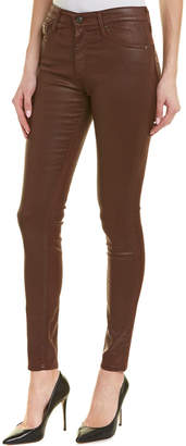 AG Jeans The Farrah Skinny Moto Bordeaux High-Rise Skinny Leg