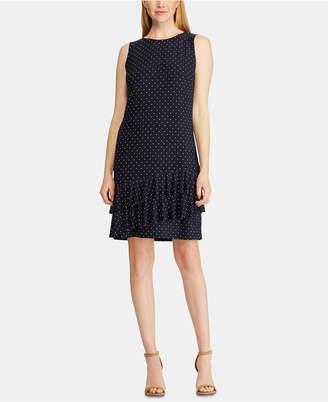 American Living Polka Dot-Print Tiered Ruffle Dress
