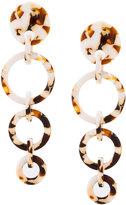 Lele Sadoughi wind chime hoop earrings