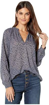 Bishop + Young Moody Blue Top (Print) Women's Clothing